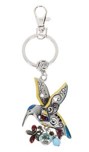 Ganz Key Rings, Keychains - Hummingbird with Color