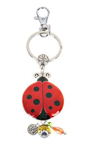 Ganz Key Rings, Keychains - Lucky Ladybug with Color