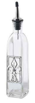 Ganz Kitchen Oil Bottle - Fleur de Lis