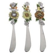 Ganz La Cucina Cheese Spreaders - Birds and Flowers with Color