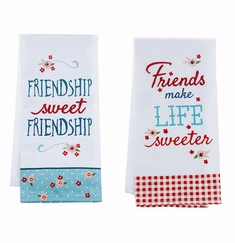 """Ganz """"Life is Sweet"""" Kitchen Guest Towels - Set of 2"""