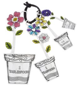 Ganz Measuring Spoons with Color - Flower Pot