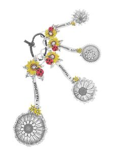Ganz Measuring Spoons - Ladybugs and Sunflowers