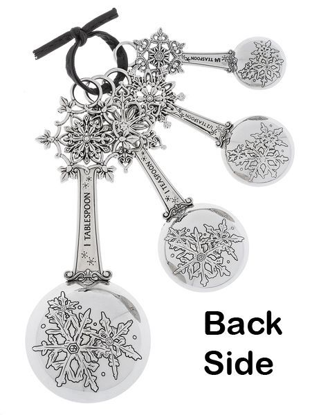 NEW GANZ SNOWFLAKE MEASURING SPOONS SET