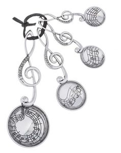 Ganz Measuring Spoons - Treble Clef Music Note