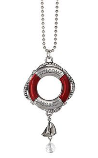 """Ganz Nautical Car Charms - """"Welcome Aboard"""" Life Preserver"""