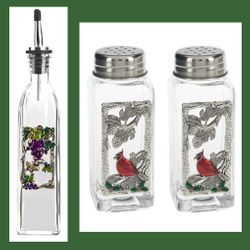 Oil Bottles, Salt & Pepper Shakers