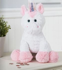 Ganz Plush Unicorn Coin Bank 13""