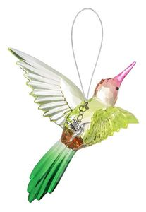 Ganz Radiant Hummingbird Ornament with Charm - Style E