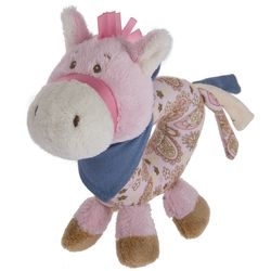 Baby Ganz Wee Western Horse Ring Rattle - Pink