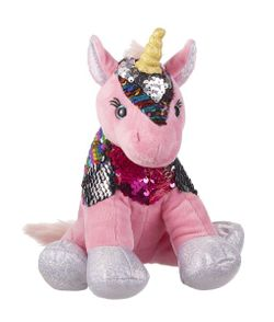 Ganz Sparkle Sequin Unicorn Plush - Pink 8""