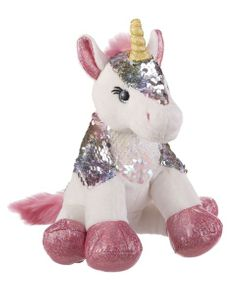 Ganz Sparkle Sequin Unicorn Plush - White 8""