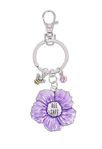 Ganz Springtime Flowers Key Rings - Bee Safe