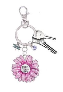Ganz Springtime Flowers Key Rings - Enjoy Today