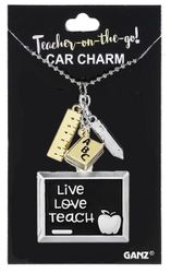Ganz Teacher on the Go Car Charms - Live Love Teach
