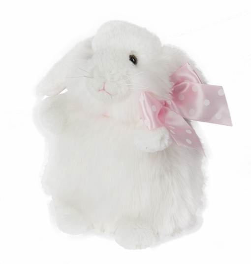Ganz Trudie White Bunny Rabbit Push 8.5""