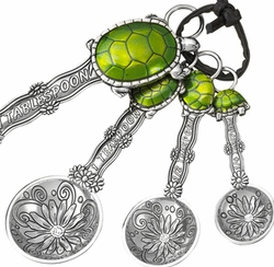 Ganz Measuring Spoons - Turtles with Colored Enamel