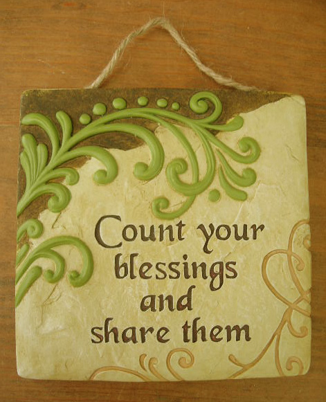 Ganz Wall Plaque - Count your Blessings and Share Them