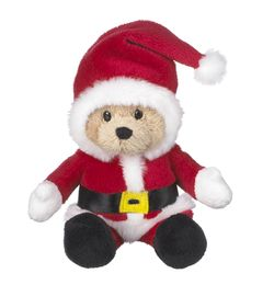 Ganz Wee Bears - Santa Claus Christmas Bear 6""