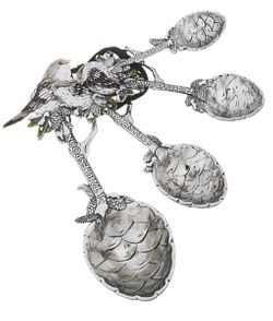 Ganz Measuring Spoons - Winter Birds with Pinecones