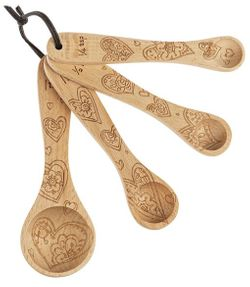 Ganz Wooden Measuring Spoons - Hearts