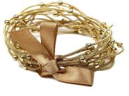 Goldtone Stretch Bracelet Set of 12