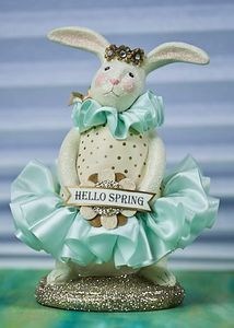 Heather Myers - Cupcake Bunny Hello Spring Figurine 9.5""