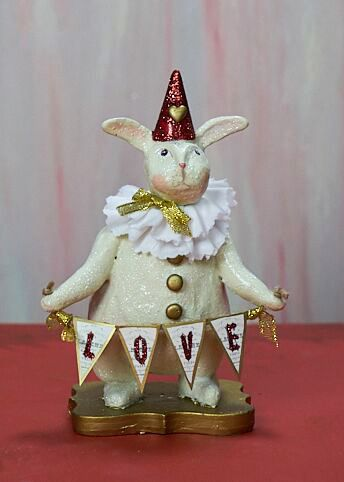 Heather Myers - Rhett Bunny Rabbit Valentine Figurine