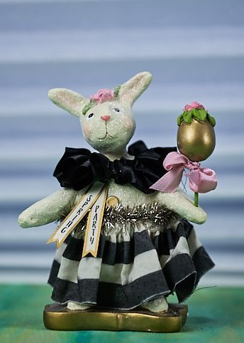 Heather Myers - Rosie Spring Party Easter Bunny Rabbit Figurine