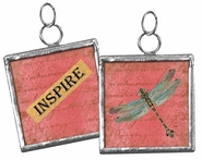 Primitives by Kathy Dragonfly Pendant Charm - Inspire