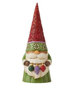 """Jim Shore Christmas Gnome with Ornaments 5.31"""""""