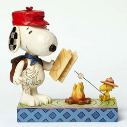 "Jim Shore Peanuts - Snoopy and Woodstock ""Campfire"""