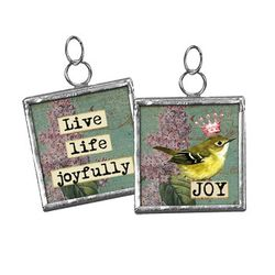Primitives by Kathy Pendant Charm - Live Life Joyfully