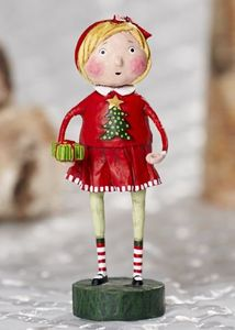 Lori Mitchell Gift Exchange Girl Christmas Figurine 6""
