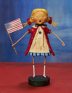 Lori Mitchell Gloria Patriotic Figurine 6.5""