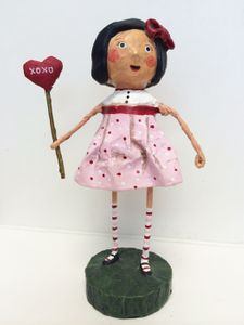 Lori Mitchell Hugs and Kisses Cutie Valentine Figurine