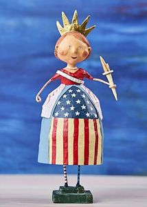 Lori Mitchell Lady Liberty Patriotic Figurine 10""