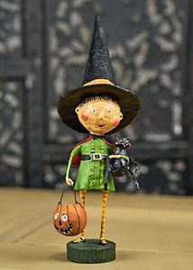 Lori Mitchell Witchy Hazel Witch Halloween Figurine