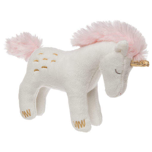 "Twilight Baby Unicorn Plush Toy Rattle 5"" by Mary Meyer"