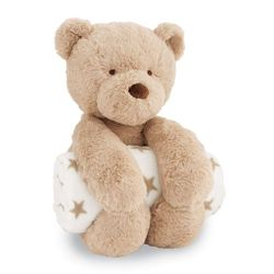 Mud Pie Baby Bear Plush with Blanket Gift Set