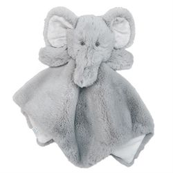 "Mud Pie Baby Elephant Plush Woobie 11"" x 6"""