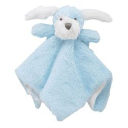 "Mud Pie Baby Puppy Plush Woobie - Blue 11"" x 6"""