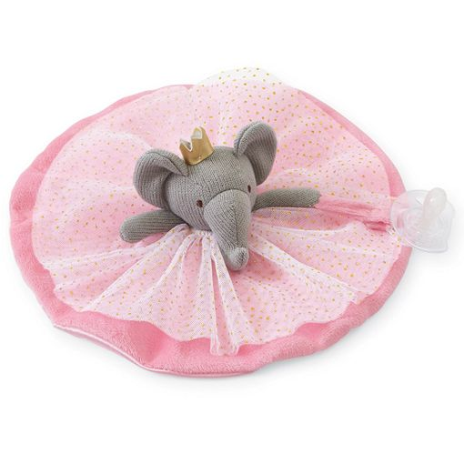 Mud Pie Baby Princess Elephant Skirted Pacy Lovies