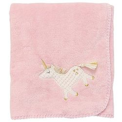 "Mud Pie Baby Unicorn Fleece Blanket 34"" x 28"""