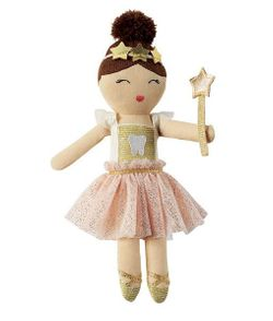 Mud Pie Ballerina Tooth Fairy Doll 9""