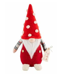 Mud Pie Christmas Gnome Sitter 11 3/4""