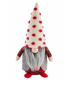 Mud Pie Christmas Gnome Sitter 14""