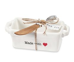 "Mud Pie Circa Mini Loaf Pan Set - ""Made with Love"""