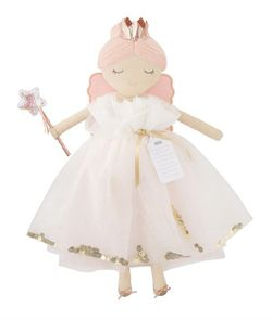 Mud Pie Fairy Godmother Dolls - Ivory Dress