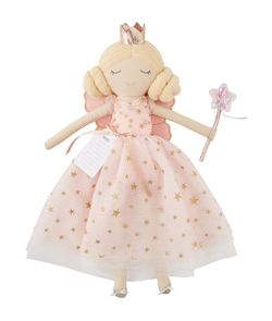 Mud Pie Fairy Godmother Dolls - Pink Dress